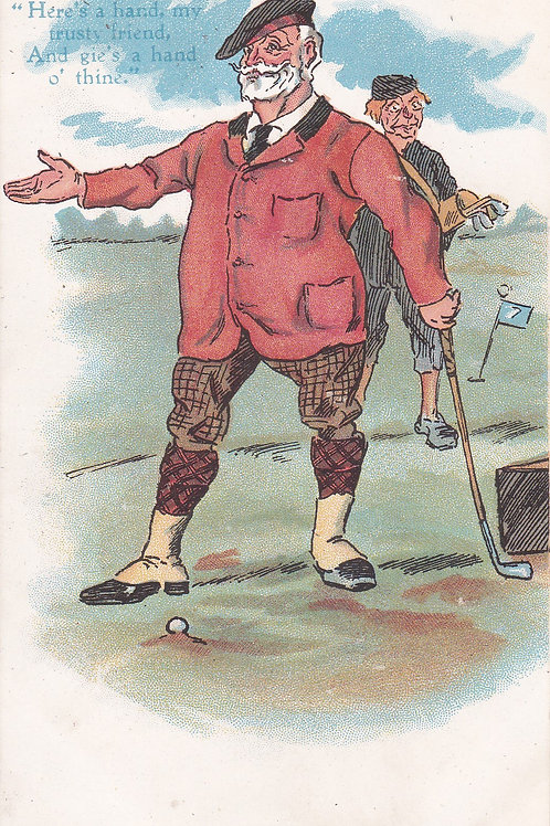 Comic Golf PC Ref.2138a C.1905-10