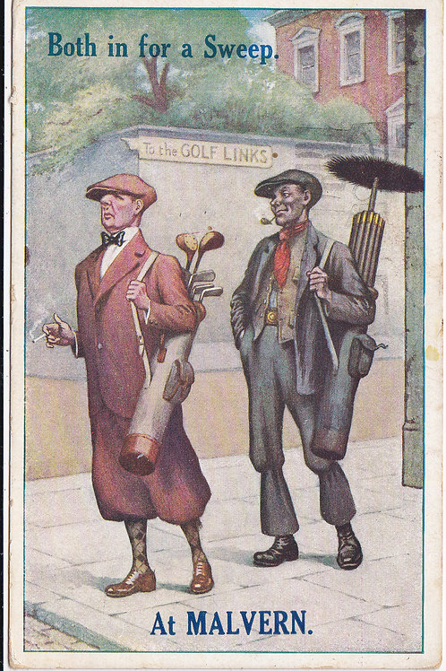 Comic Golf Postcard. in for A Sweep Ref.416 C.1934