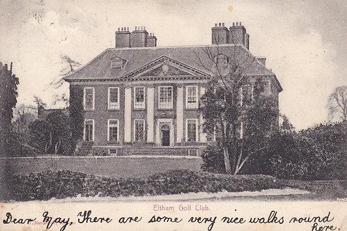 Eltham Golf Club London.Ref 729.C.1904