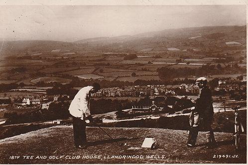 Llandrindod Wells 18th Tee & Golf Pavilion Ref.2357 C.Pre 1933