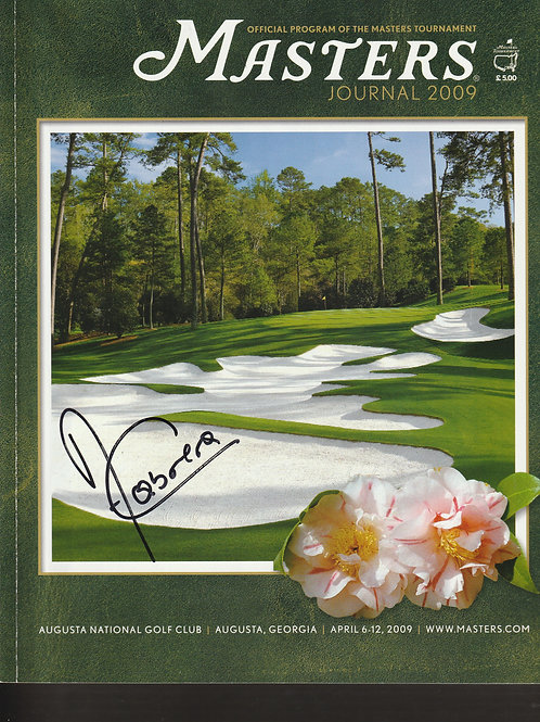 Angel Cabrera Signed 2009 Masters Programme Nr MINT