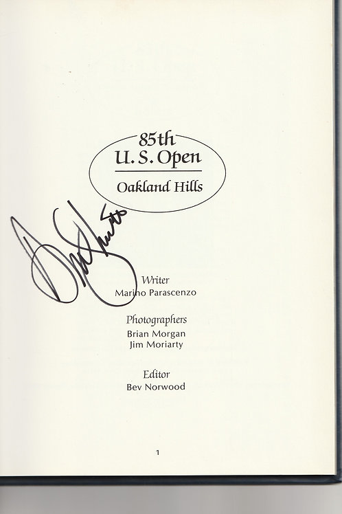 "1985 US ""Open""AnnualSigned by Andy North Ref.USO. 042"