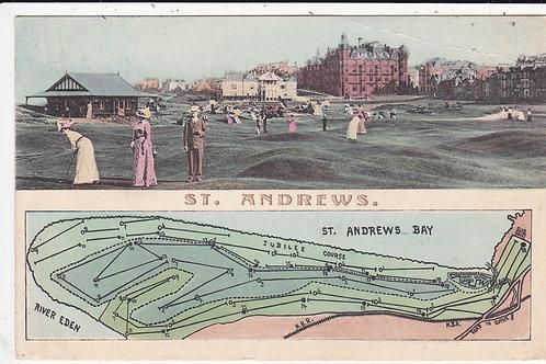 St Andrews RARE Postcard  Ref 1434 C.1910