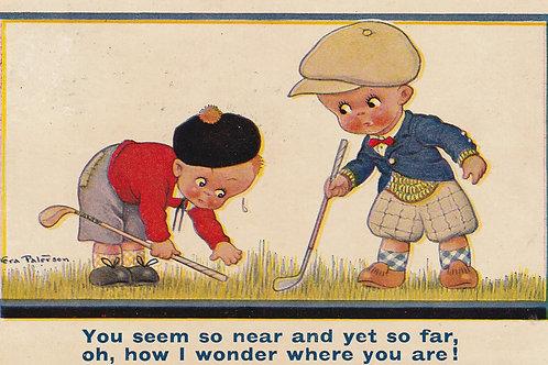 Childrens Comic Golf PC. Ref.2591 C.1930s