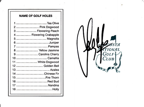 Sandy Lyle SIGNED Masters Card