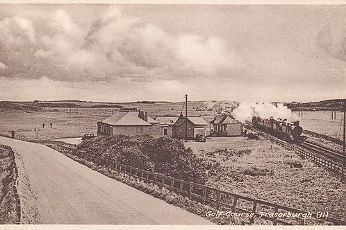 Fraserburgh Golf Links/Steam Train.Ref 696. C.1950