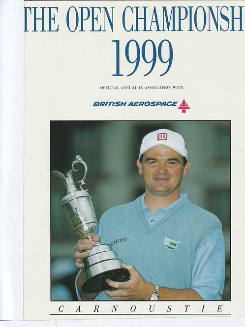 Signed British Open Championship Annual Ref.551 Carnoustie 1999
