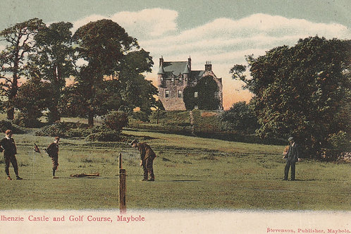 Maybole Golf Course & Kilhenzie Castle Ref.2362 C.1908
