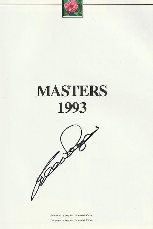 1993 Bernhard Langer Signed Masters Annual Ref.MM. 920