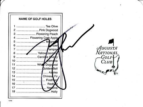 Zach Johnson SIGNED Masters Card Ref.GM 235