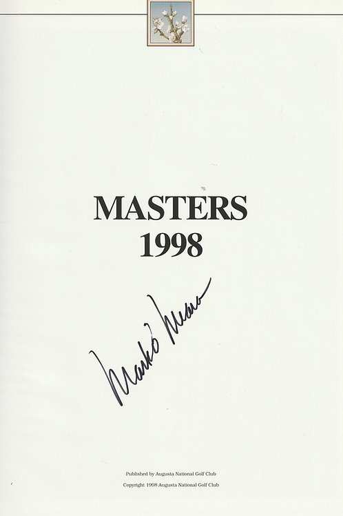 1998 Mark O'Meara Signed Masters Annaul Ref.MM. 681