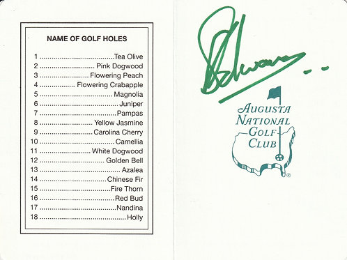 Charl Swartzel Hand Signed Augusta Masters Card Ref.275