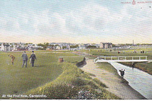 Carnoustie.The 1st Hole Ref.1119 C.1905-10