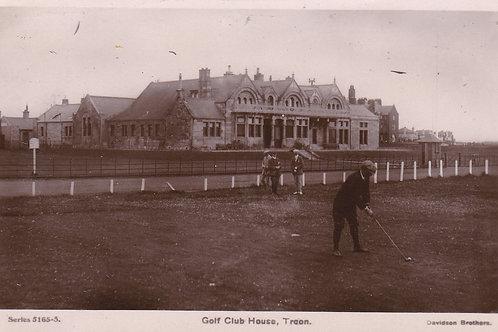 SOLD>Ref.945.Troon Golf Club House & 1st Tee. Ref 945 C.1908