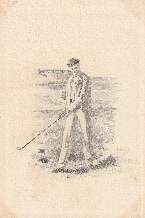 Early French Golfer Ref.2403 C.1902