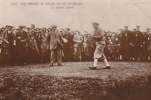 H.R.H. Prince of Wales & Sandy Herd Ref.2760 C.1922