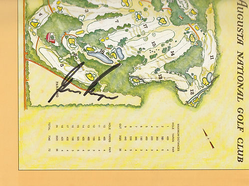 1978 Gary Player Signed  Masters Annual