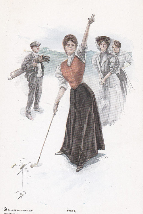 Golf Art/Fashion PC Ref.1641b C.1905