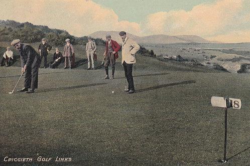 Criccieth Golf Links Ref.2185a C.Ea 1900