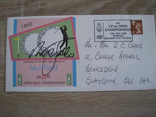 1992 British Open FDC Signed Ref.101 C.1092