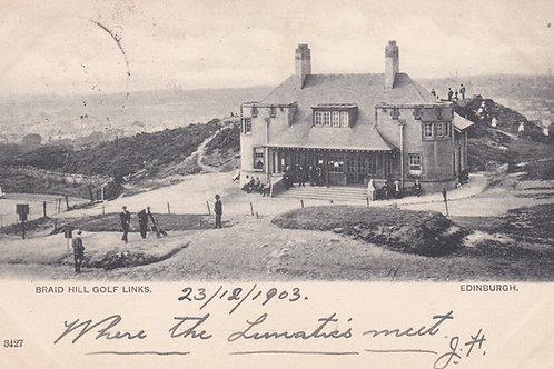 Braid Hills Golf House,Edinburgh C.1903 Ref 066 C.1903
