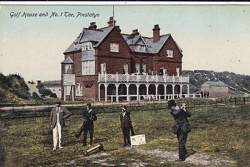 Prestatyn Golf House & 1st Tee Ref 1147 C.1915-18