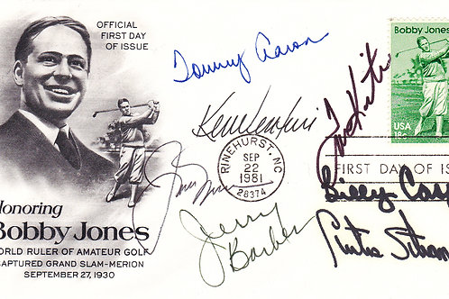 Bobby Jones Masters FDC Multi Signed C.1981