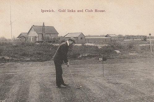 Ipswich Golf Pavilion & Links (Original) Ref.2467 C.Pre 1914