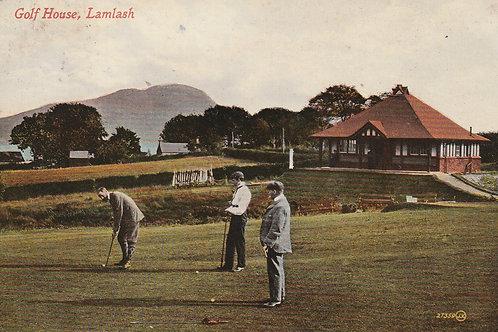 Lamlash Golf Pavilion & 9th green I believe. Ref.2311a C.1916
