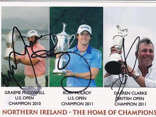 Rory McIlroy Signed PC Ref.181 C.2012
