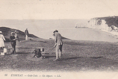 SOLD>Ref.130a.Etretat Golf Links,France C.ea 1900s Ref.130a