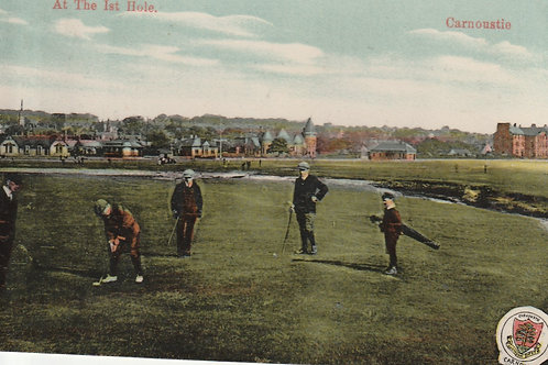 Carnoustie.At the 1st Hole Ref.2439 C.1910