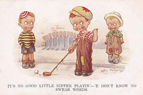 6 Comic Golf PC Kids Golf P/cards C.1930s Ref.602