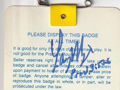 1987 Signed US Masters Badge Ref.USMB. 060