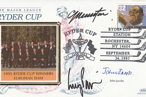 1995 Oak Hill Ryder Cup Comm.Cover Signed Ref. FDC. 033