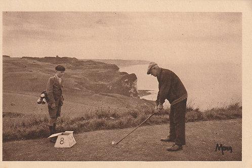 Dieppe Golf Links 8th Tee Ref.2832 C.ea 1900s