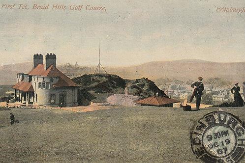 Braid Hills Golf Club House Ref.1653a C.pre 1907