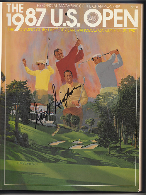 """1987 US """"OPEN"""" Annual Signed by Scott Simpson Ref. USO. 033"""