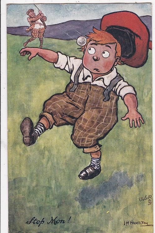 "Comic Golf PC ""Our Caddie"" Ref 1233 C.1908"