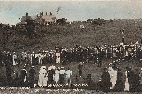 Finish of the Taylor v Massy Golf Match, Seacroft Ref.278 19076