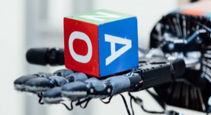 An AI-driven robot hand spent a hundred years teaching itself to rotate a cube