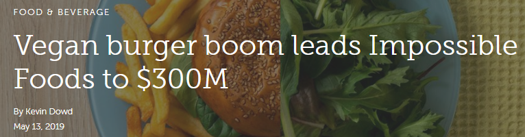 Vegan burger boom leads Impossible Foods to $300M