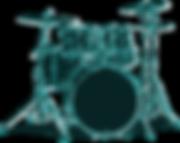 Stratford community concert band drumset