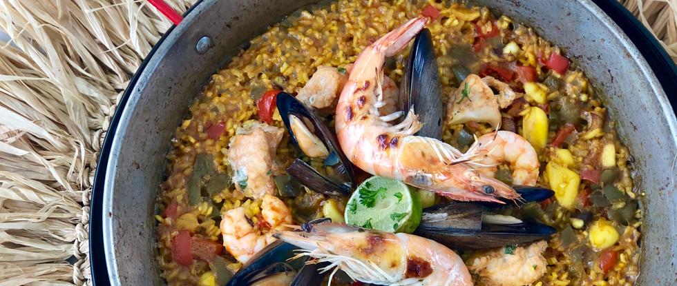 Spanish Seafood Paella by Coco Kitchen Restaurant Balangan Bali