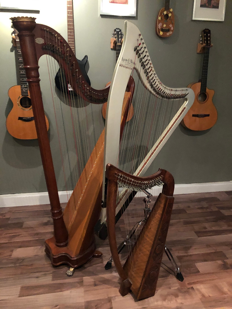 My 3 beautiful harps