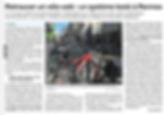 Article de Ouest France du 19-09-2019 relatant le lancement de l'expérimentation Vigivélo de CROWDLOC à Rennes