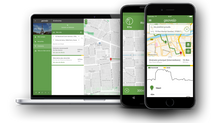 CROWDLOC Technology embedded in GPS Navigation App Geovelo