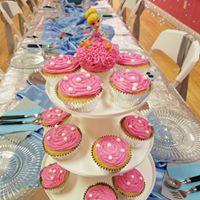 cinderella pink cupcake