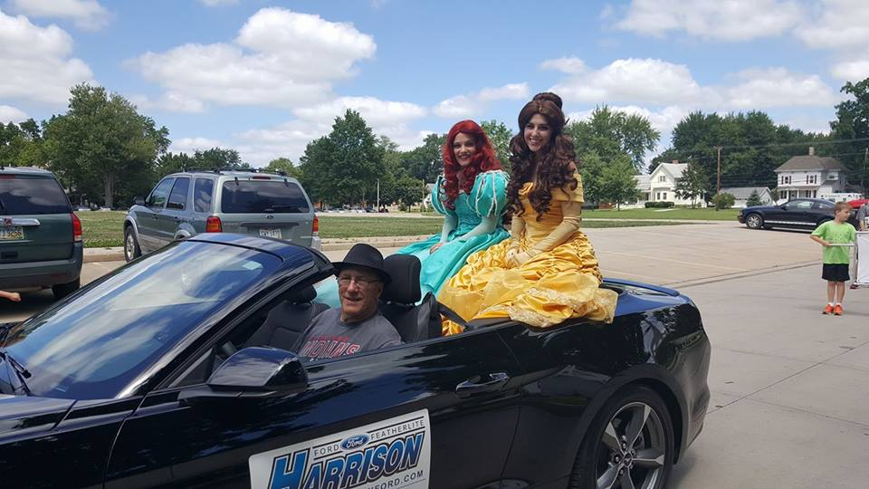 riding in the parade