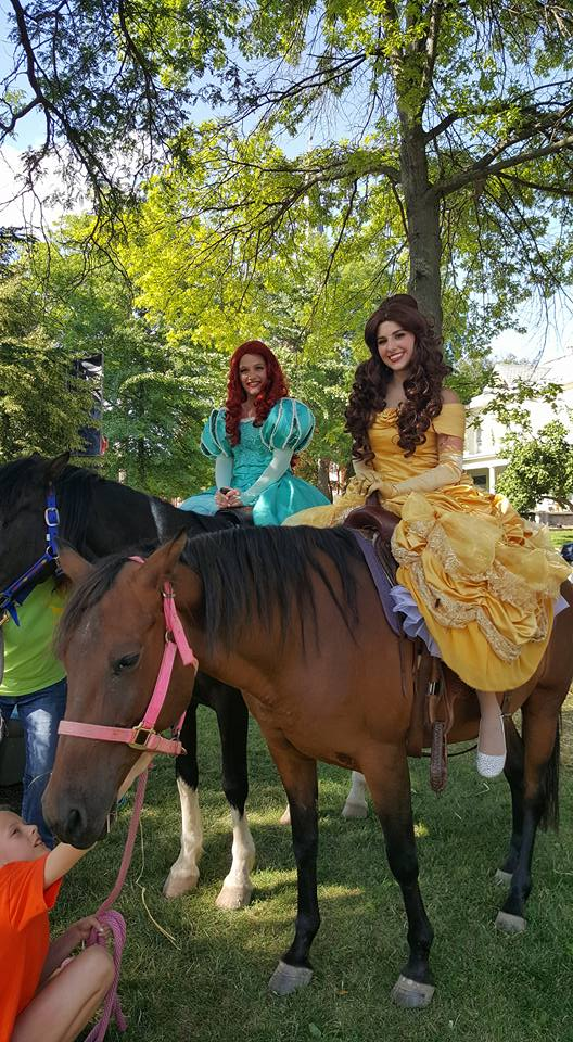 riding horses at the cheese festival